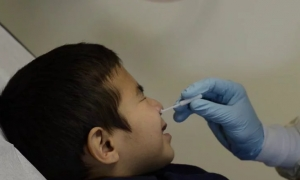 Sample Collection: Nasal Swab Procedure Using Mid-turbinate Swab (Pediatric) - COPAN